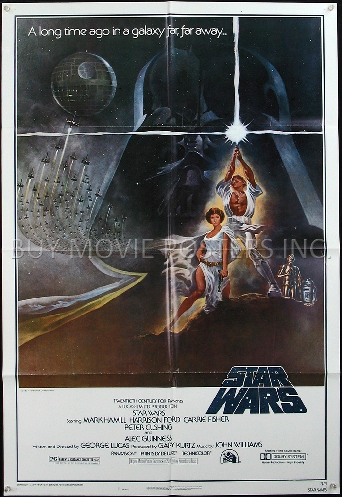 STAR WARS Episode IV: A New Hope : 1 Sheet (27 X 41) / Buy ...